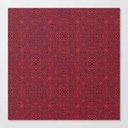 Decoration ornament red  blue spirales Canvas Print