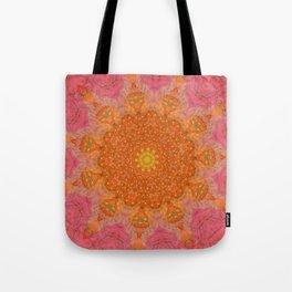 Pink and Orange Kaleidoscope Tote Bag