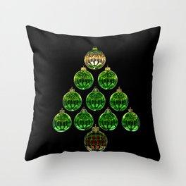 Christmas Bauble Tree Throw Pillow