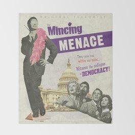 The Mincing Menace Throw Blanket