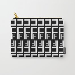 F (Black Background) Carry-All Pouch