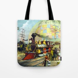 Transcontinental Railroad Tote Bag