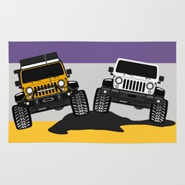 [JEEP COUPLE] yellow+white Rug