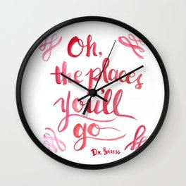 Oh, The Places You'll Go! Wall Clock