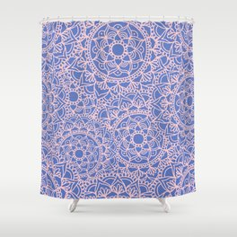 Pink and Mauve Mandala Pattern Shower Curtain