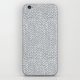 Hand Knit Light Grey iPhone Skin
