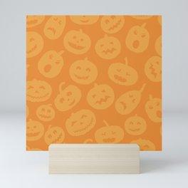 Orange Jack-O-Lanterns Mini Art Print