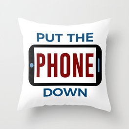 Less Phone More Connection Human Touch Throw Pillow