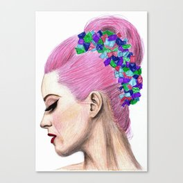 Katy Drawing Canvas Print