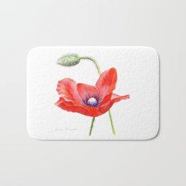 Red Poppy by Teresa Thompson Bath Mat