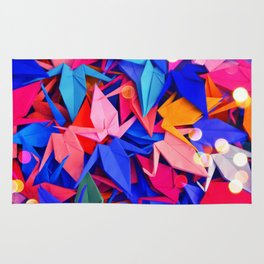 Senbazuru | pink and blues Rug