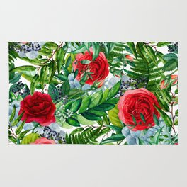 Ruby Roses Collage Rug