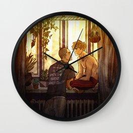 Succulent Sunset Wall Clock