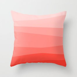 Diagonal Living Coral Gradient Throw Pillow