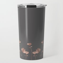 Rosegold pink flowers - floral design - Flower Travel Mug