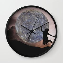 DANCING WITH THE MOON Wall Clock