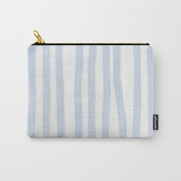 Light Blue Stripes Carry-All Pouch