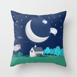 What The Sheep Do While You Sleep Throw Pillow