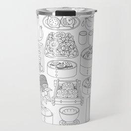 Sunday Dim Sum - Line Art Travel Mug