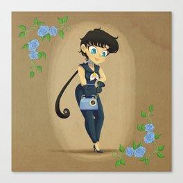 Retro Sailor Star Fighter Canvas Print