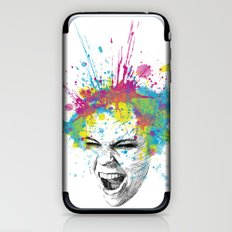 Crazy Colorful Scream iPhone & iPod Skin