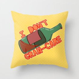 I don't Gran-Care V2 Throw Pillow
