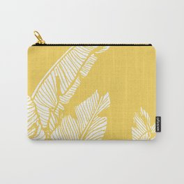 Banana Leaves on Yellow #society6 #decor #buyart Carry-All Pouch