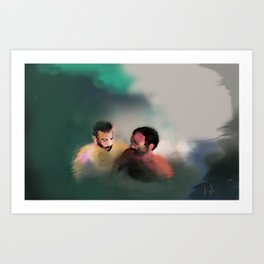 with this gentle sting between us Art Print