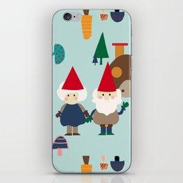 gnome blue iPhone Skin