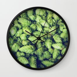 Hops by the bushel. Wall Clock