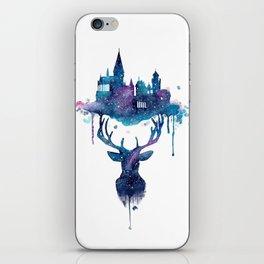 Always - Magical Deer in a Wizard World in watercolor iPhone Skin