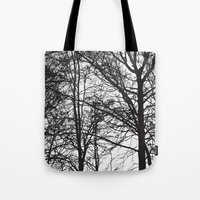 arya stark Tote Bags featuring Stark by MLauxDesign