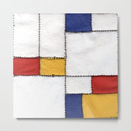 sewing Mondrian Metal Print