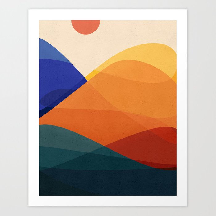 Meditative Mountains Art Print