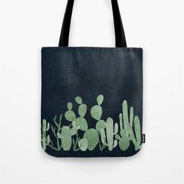 Green cactus garden Tote Bag