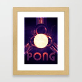 PONG #3 Framed Art Print