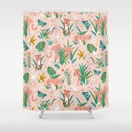 Endangered Wilderness - Blush Pink Shower Curtain