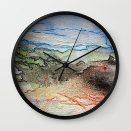 Abstract colors 3 Wall Clock