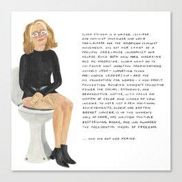 Gloria Steinem Canvas Print