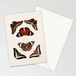 Vintage Butterfly Chart III Stationery Cards