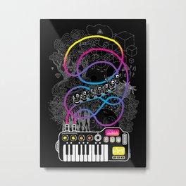 Music Coaster Metal Print