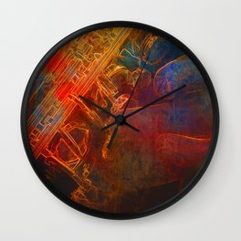 The Color of Music - Sax Wall Clock