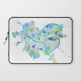 Pittsburgh Neighborhood Map Laptop Sleeve