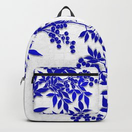 BLUE AND WHITE  TOILE LEAF Backpack