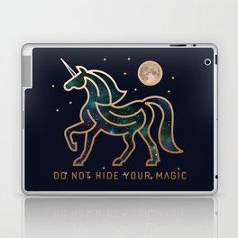Do Not Hide Your Magic - Galactic Unicorn Laptop & iPad Skin