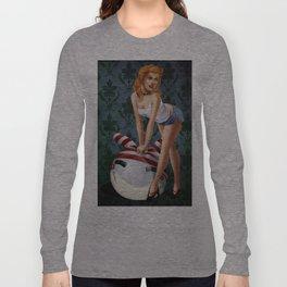 PinUp Blonde Long Sleeve T-shirt