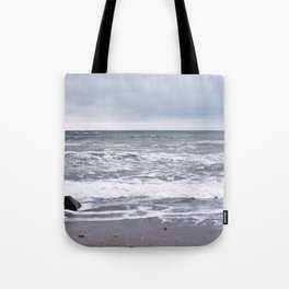 Cloudy Day on the Beach Tote Bag
