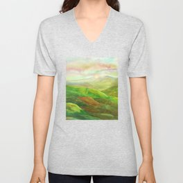 Lines in the mountains XVI Unisex V-Neck