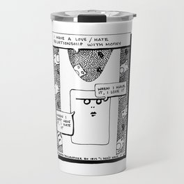 I have a Love-Hate Relationship with Money / 1995: The Booth Philosopher Series Travel Mug