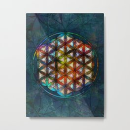 The Flower of Life Symbol Metal Print